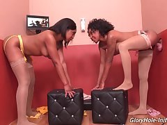 Glory aperture hardcore seduction for two ebony ladies