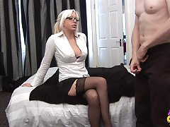 Flaxen-haired cougar needs the proper inches to suit her dirty needs