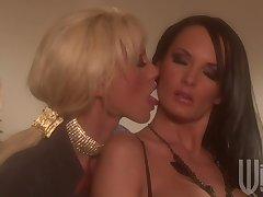 Romantic pansy lovemaking between Alektra Blue and Tanya James