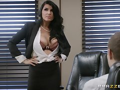 After awesome MILF Romi Rain's fabulous designation banging