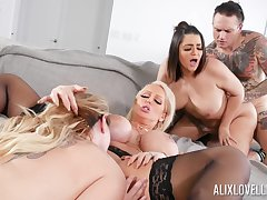 Awesome group lose one's heart to with Alix Lovell, Alura Jenson plus Kiki Dare