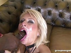 Hardcore double penetration interracial gangbang with Kathy Kongo