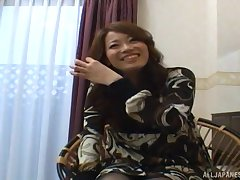 Amateur video of a pretty Japanese unspecified getting fucked balls deep