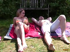 Backyard sexual surprise be required of the extraordinarily lucky hunk