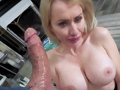 MILF smashingly serves her stepson's hard cock here a catch morning