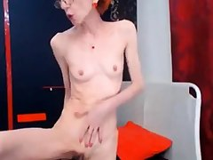amazing skinny gilf fucks her dildo conformable to up