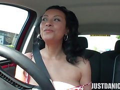 Dirty MILF Danica Collins loves masturbating in eradicate affect car. HD