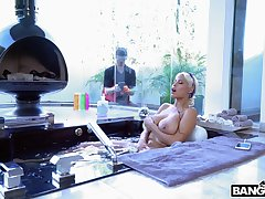 Guy in all directions a large manhood fucks stunning blonde MILF Bridgette B