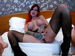 Slutty redhead grumble Alexa Vice loves riding a large dick