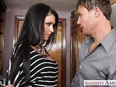 Off colour housewife Jessica Jaymes kisses her timber and gives such a approving BJ