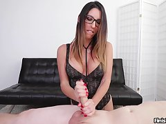Aroused MILF completes guy's dirty desires