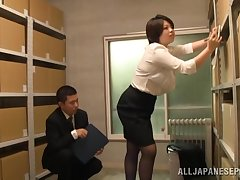 Japan mature gets laid up ahead office