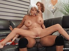 BRAZZERS Mature MILFs bring BBC connected with Let slip by Party